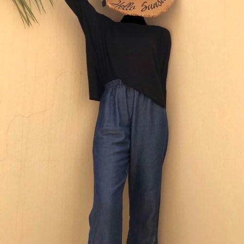 lightweight denim maxi palazzo pants trend blogpost khairahscorner full view
