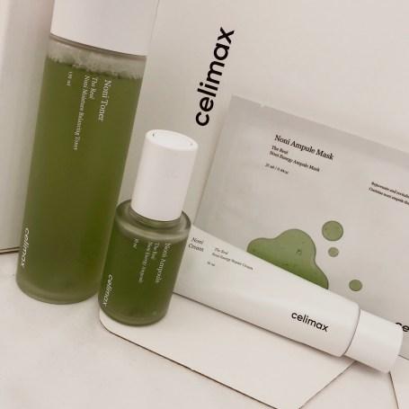 celimax-real-noni-line-energy-kit-toner-cream-ampoule-masks-khairahscorner