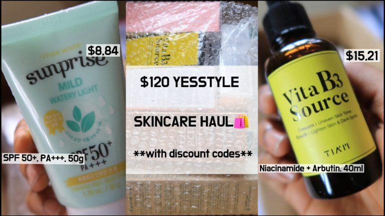 How Much Skincare Can $120 Get You On YESSTYLE? | Best Picks