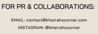 sponsorships pr collaborations khairahscorner instagram youtube blog