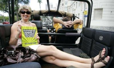 Female with Longest Legs in the World