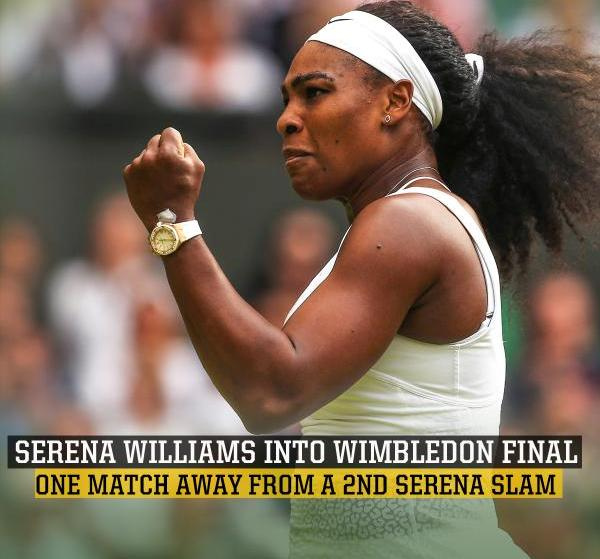Serena Williams reached in Wimbledon final