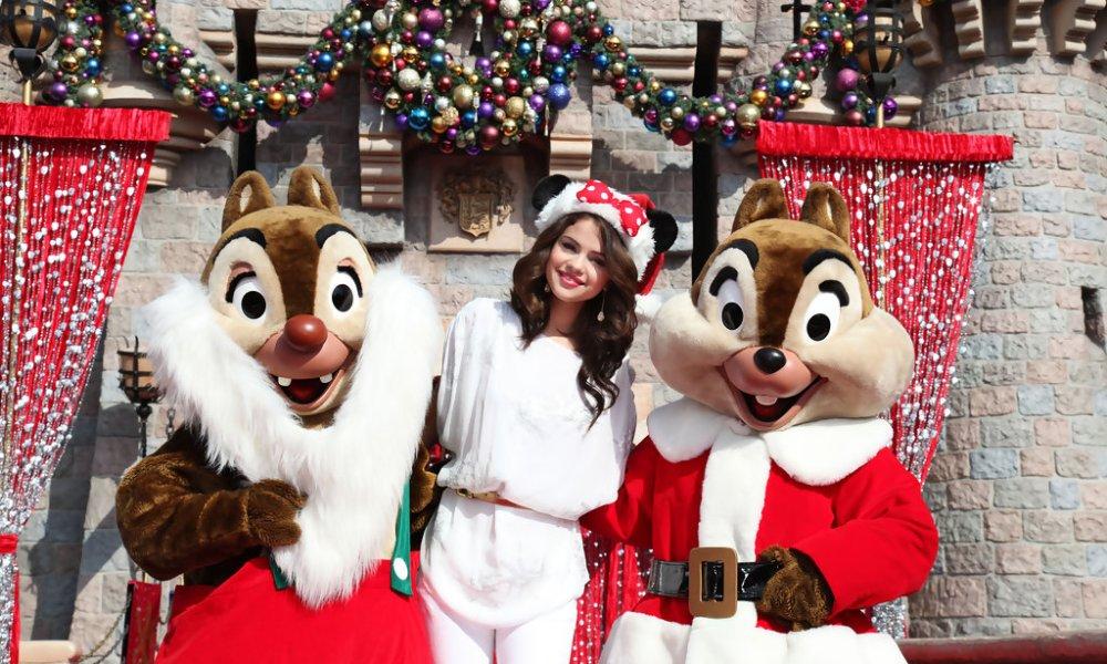 Selena Gomez Celebrating Christmas Eve