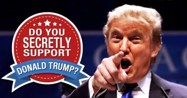 Support Donald Trump Secretly