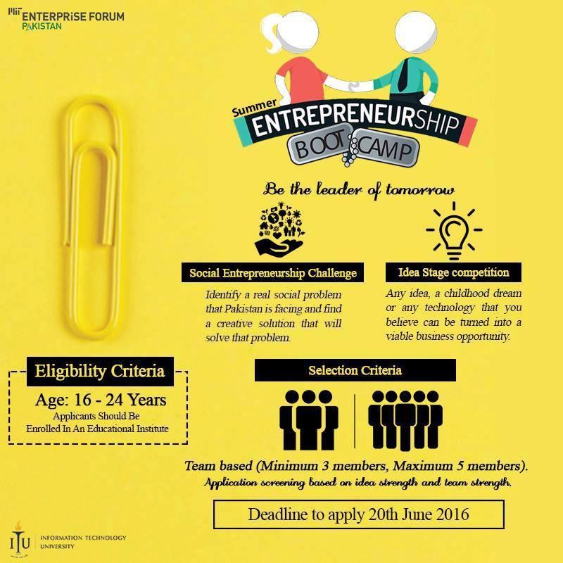 ITU-MITEFP Summer Entrepreneurship Bootcamp | Khaleej Mag
