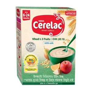 cerelac stage 1 wheat & 3 fruits (6 month+)