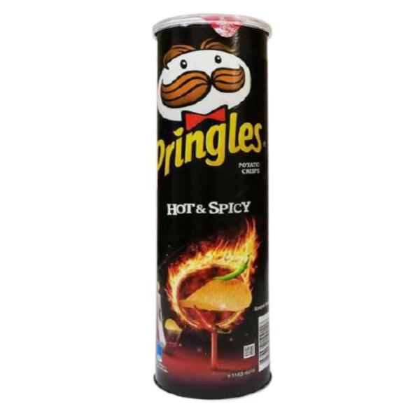pringles hot & spicy potato chips
