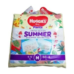huggies dry pants baby diaper pant m (6-12kg) 60pcs