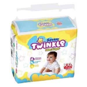 savlon twinkle baby diaper belt xxl (15-30kg) 24pcs