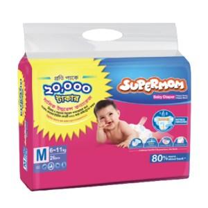 supermom baby diaper belt m (6-11kg) 26 Pcs