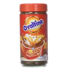 ovaltine power 10 chocolate drink jar 400gm