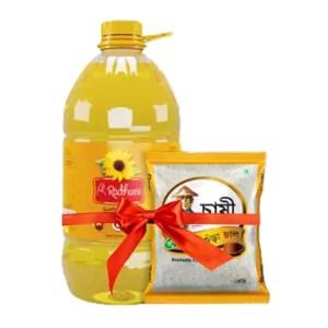 radhuni sunflower oil 5 liter
