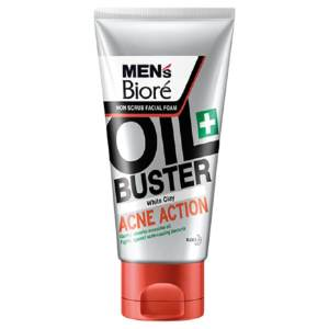 biore mens acne action face wash 100g,