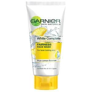 garnier white complete face wash