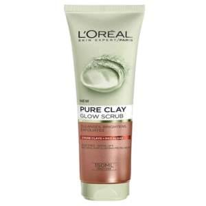l'oreal face wash pure clay glow scrub 150ml