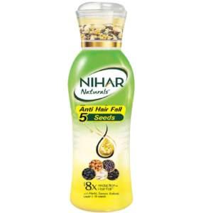 nihar anti hairfall 5 seeds hair oil