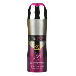 chris adams deodorant body spray active woman 200ml