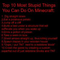 Top 10 Most Stupid Things You Can Do On Minecraft Computer Programming Khan Academy