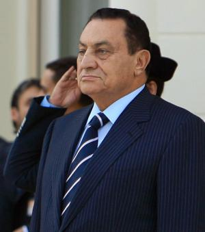 President Hosni Mubarak of Egypt a country where 'the idea of service has simply ceased to exist'