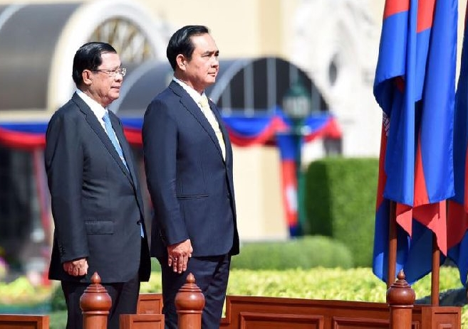 Image result for Hun Sen and Prayuth Ocha