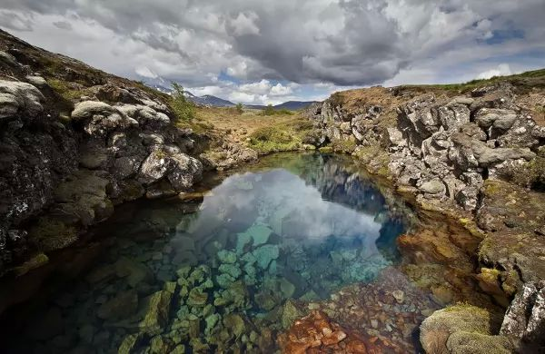 الحديقة الوطنية فى ثينجفيلير من اجمل اماكن سياحيه في ايسلندا
