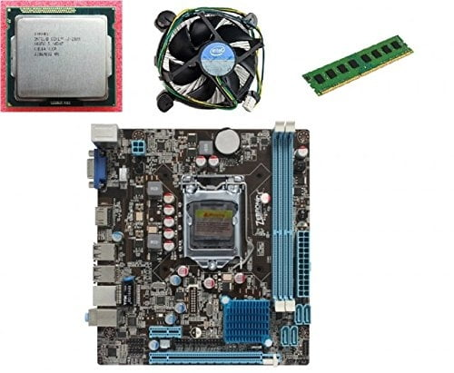 KharidiyeBasic Zebronics Motherboard Combo H61 Chipset Motherboard with Intel Core I5-3rd Gen Processor with 2 GB DDR3 RAM Intel Fan-0