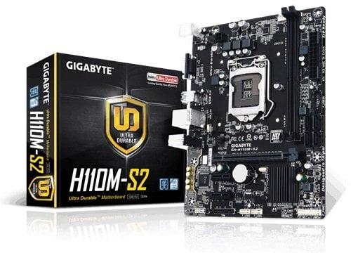 Gigabyte GA-H110M-S2 LGA 1151 6th Gen F20 Updated BIOS Motherboard-0