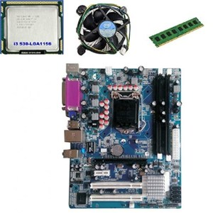 KharidiyeBasic Zebronics Board H55 Chipset Motherboard with 2 Years Warranty,Intel Core I3-530 Processor with 4 GB DDR3 RAM CPU Fan-0