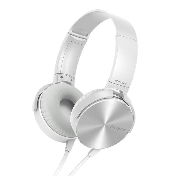 Sony MDR-XB450 On-Ear EXTRA BASS Headphones (White)-0