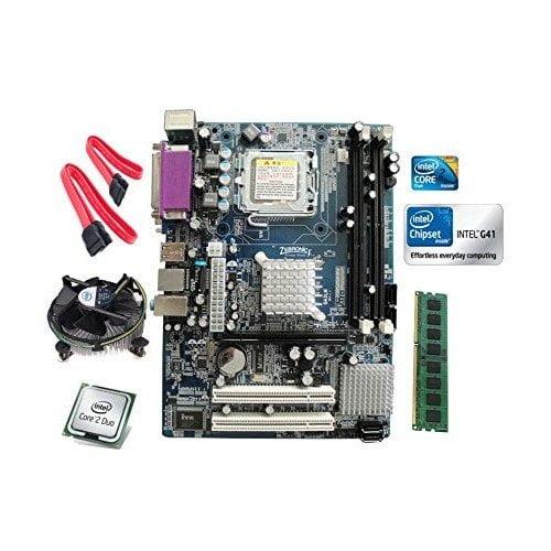 Intel Core 2 Duo E8400 3.0 GHZ + Zebronics G41 DDR3 Motherboard + 2 GB DDR3 RAM-0