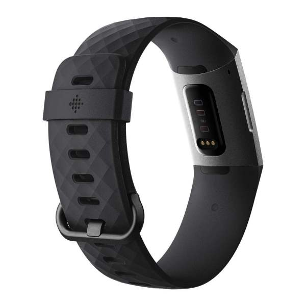 Fitbit Charge 3 Fitness Activity Tracker (Graphite and Black) with Offer on Accessory-6065