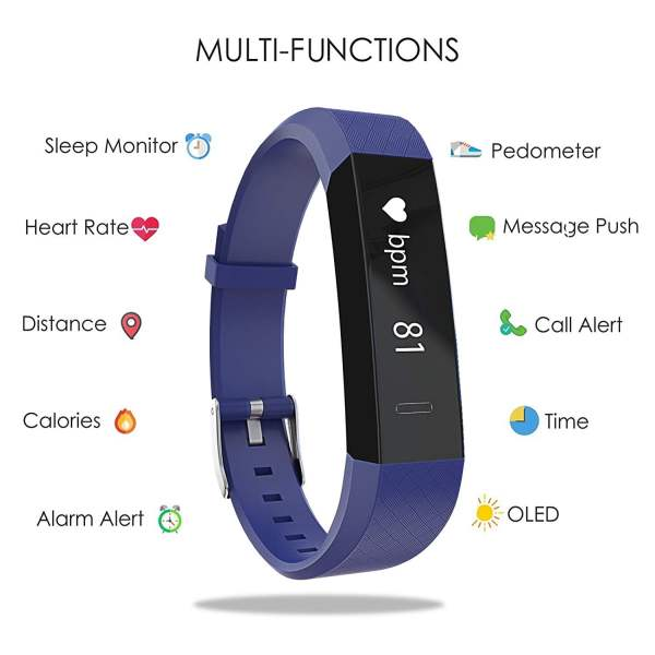 Boltt Beat HR Fitness Tracker with 3 Months Personalized Health Coaching (Dazzling Blue)-6811