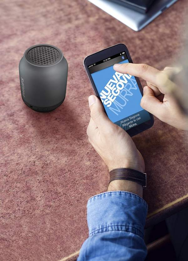 Philips BT50B Portable Wireless Bluetooth Speaker, Blue-7008