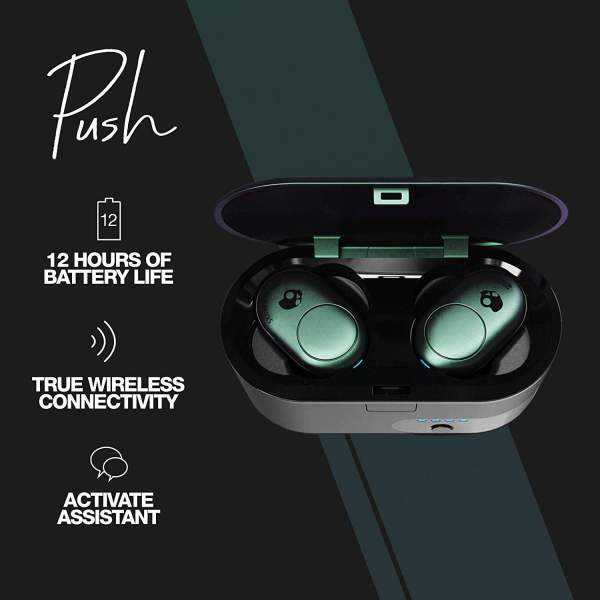 Skullcandy Push S2BBW-M714 True Wireless Earbuds Psychotropical (Teal)-7401