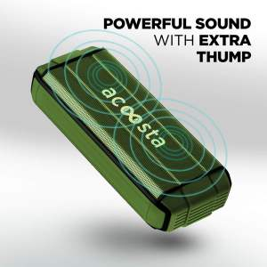 ACOOSTA BOLD 370 Portable Wireless Bluetooth Speaker (Military Green)-0