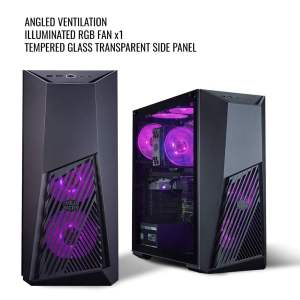 Cooler Master MasterBox K501L RGB Mid Tower Gaming Cabinet with Pre-Installed Fans and Tempered Glass Side Panel-0