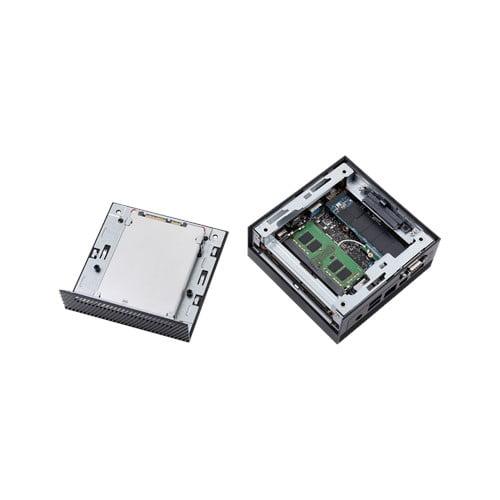 ASUS PN40 Ultra-Compact Mini PC with Intel Celeron N4000 Processor/Intel UHD Graphics 600 / DDR4 RAM/Dual Storage / 4K UHD Support/USB 3.1 Gen 1 Type-C (PN40-BBC203MV)(RAM, M.2 Storage not Included) Black-9316