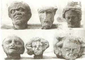 Stolen Mediaeval stone heads from Kenilworth Priory