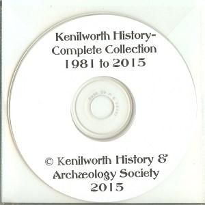 Kenilworth History CD - 1981 to 2015