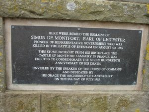 De Montfort Plaque