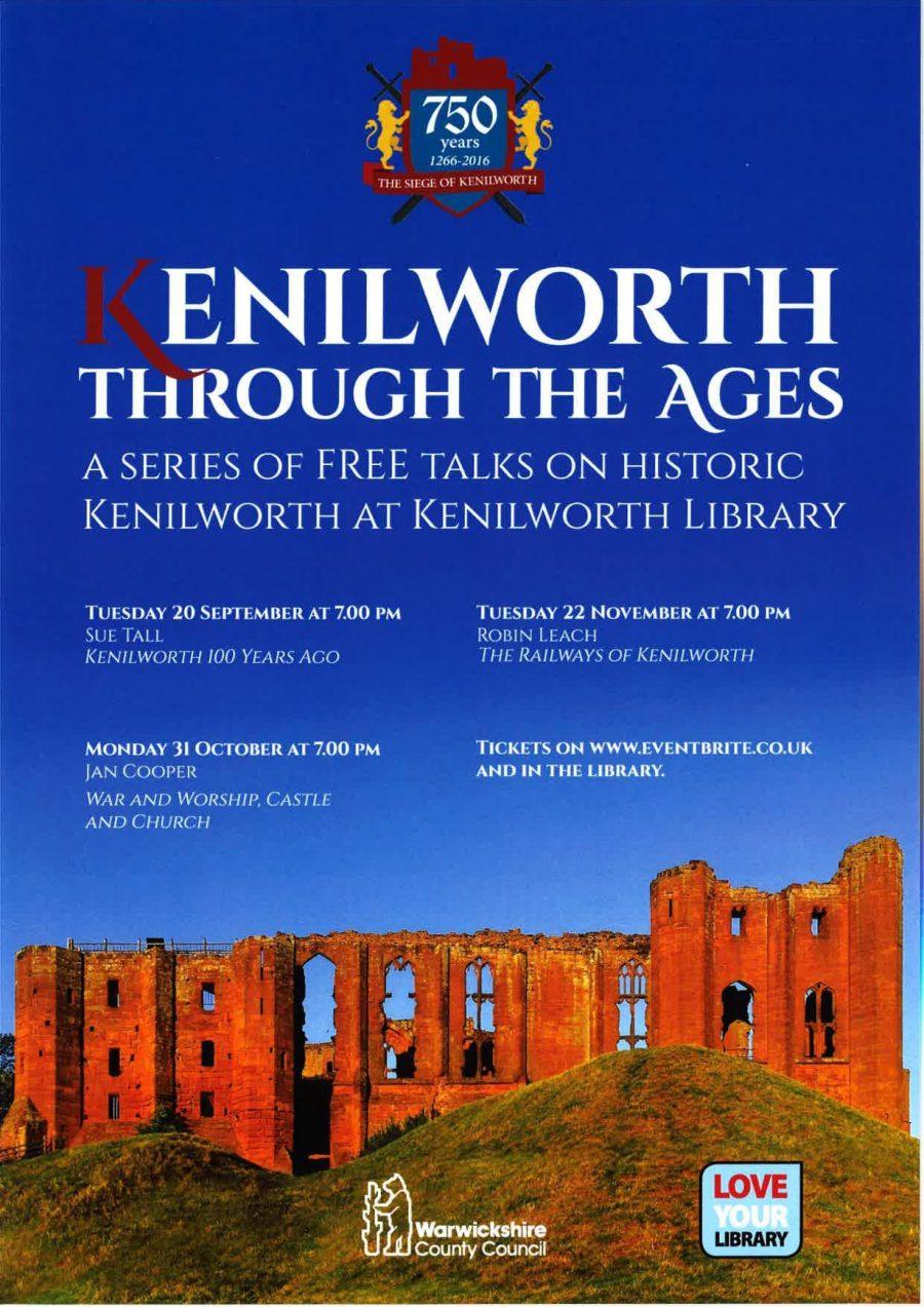 Talks at Kenilworth Library