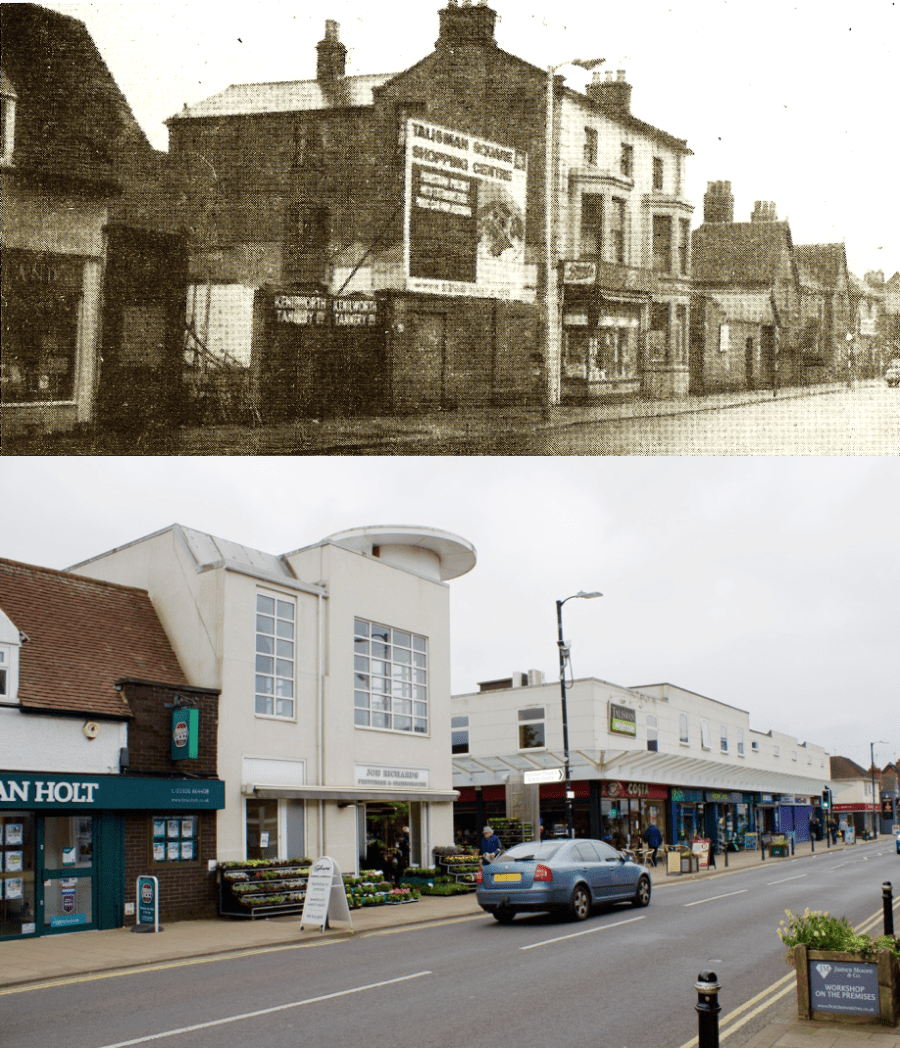 Tannery gates, Warwick Road, early 1965 - Then & Now