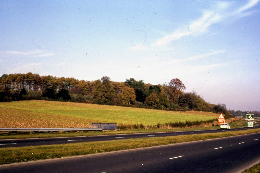 The Blacklow Hill site looking north, 1972, before the bypass extension.