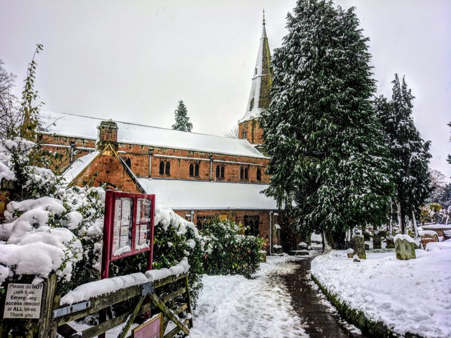 St Nicholas' Church in the snow, December 2017
