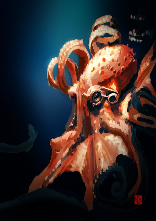 octopus speed painting