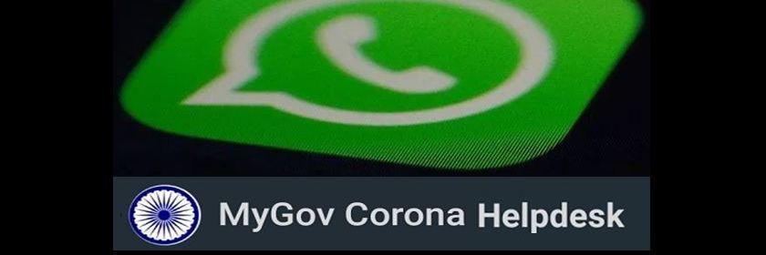 MyGov Corona Helpdesk WhatsApp ChatBot