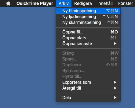 Dela skärmen på din iPhone och iPad till din Mac