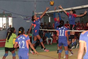 Nepalgunj: Defending Champion Railway India vs. Armed Police Force (APF) In The Finals of PM Cup 4th Indo-Nepal Women's Volleyball Tournament - Khel Dainik