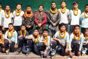 1st IPL RS All India and 3rd All India Gold Rink Race Roller Skating Championship 2017: A 16-Member Nepal Roll Ball To Fly Tomorrow - Khel Dainik