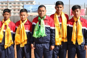 Junior Tennis team head Qatar - TexasNepal